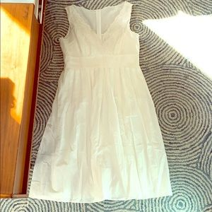 Adrianna Papell White Embroidered Dress size 10